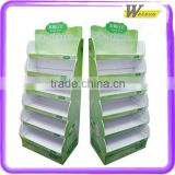Desk Daily Calendar Colorful Printing Services with Sprial Binding 5 tier Cardboard Display Stand