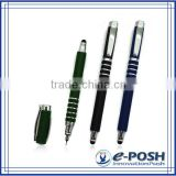 High end novelty office writing instrument business gift metal stylus felt tip pen