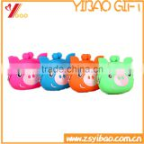 2016 Hot Sale Lovely Silicone Rubber Small Pig Pocket Coin Purse                                                                         Quality Choice