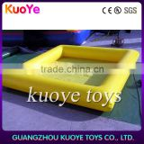 0.9mm pvc trap yellow inflatable dog pool with air blower