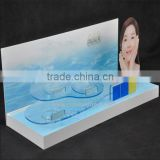 Luxury desgin acrylic skin care display with beautiful printing logo
