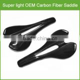 Top grade UD/3K OEM comfortable bicycle saddle , super light carbon fiber comfortable bicycle saddle