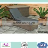 Outdoor Chaise Lounger PE Rattan Alum Frame