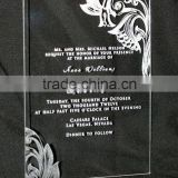 High Transparent custom acrylic invitations wholesale with printed words