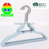 BSCI Factory Car Shape Velvet Flocking Children Coat Hanger Standby