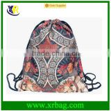 Women Mochila Man Gym bags Travel Backpack Mucha Printing Waterproof Nylon Drawstring Bag