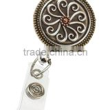 Sublimation printed lanyard retractable hot sale custom metal badge reel for promotional