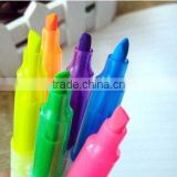 Wholesale China Plastic Short Stylus Different Shapes 4 Color Multi Color Black Highlighter Ballpoint Pen with Logo Print