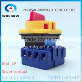 Isolator switch YMD11-80A 4P load break switch universal power cut off switch on-off changeover cam switch 8 sliver contacts