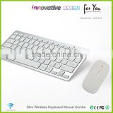 Factory direct sales white color computer laptop mini external wireless flexible keyboards and mouse KM-801
