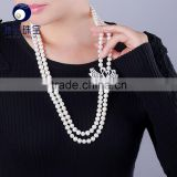 women jewelry fresh water pearl beads with beautiful double swan shape pendant                                                                         Quality Choice