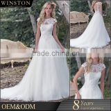 Wholesale Fashion Design lace flowers bust tiered ball gown sweetheart carnival wedding dresses