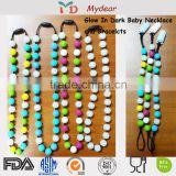 Baby Teething Necklace Wholesale/Factory Manufacturer Food Grade Chew Bead Silicone Jewelry Baby Teething Necklace Wholesale