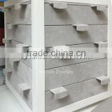 Wholesale Grey Wooden Jewelry Stands With Custom Logo For Jewellery Cabinet Showcase Earring Stand
