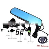 High quality 4.3Inch Allwinner A20 1080P dual record car dvr gps speed with G-sensor