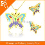 New Style Women Jewelry Set Design Wholesale With Butterfly Picture Stainless Steel Necklace And Jewelry Sets