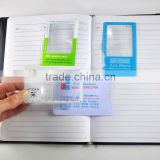 Hot selling card pattern ultra-thin pvc magnifying glass bookmarks