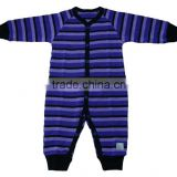 Kids 100% Merino Wool Romper in Stripes Fabric