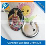 2015 New Product China factory Cheap Promotional Products Button badge with sport style in hot sale