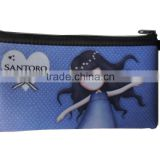 customed printed pencil bag, waterproof small zipper pouch, lovely pencil case for promotion