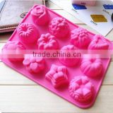 DIY Flowers shape Silicone Chocolate/Muffin/Cup Cake/Jelly Candy /Ice /Cupcake Tray/Handmade tool soap Mold