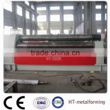 3 rollers hydraulic plate bending machine with double pinch