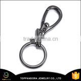 wholesale custom lobster claw clasp keyring fashion OEM design gold plated stainless steel keychain metal