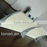 077 best polycarbonate canopy price UV surface polycarbonate window canopies/awning in china