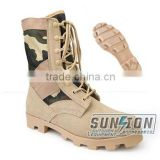 SUNSION Tactical Boots adopt cowhide full grain leather & Cordura material with ISO ,USA standard suitable for military