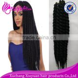 "Top seller best price 1b color 120g 12"" afro kinky twist braid synthetic hair extension"