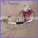 Top sale semicircle brass bathroom wire storage baskets made in China trade assurance supplier