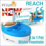 3 in 1 cheap drinking water automatic pet water feeder cat pet water fountain