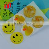 custom clear glitter epoxy stickers, epoxy resin sticker factory easter holiday egg sticker with great price for children gifts