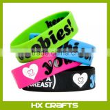 Custom Logo size design cheap silicon bracelet,wide silicon wristband promotional items with good quality