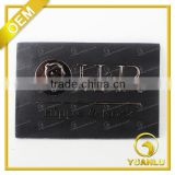 2015 Black Cut Out Metal Leather Labels For Jeans YL-194