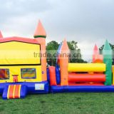 bouncer castle with obstacle course for sale, baby inflatable bouncer