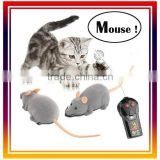 RC Remote Control Mouse 2 Channel RC Mouse Plastic Flocking Wireless RC Cat Dog Toy