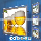 Real Estate Advertising Material Light Poster Display New Hanging System Signs Window Led Folders