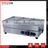 Best Price CHINZAO Brand Electric Stainless Steel Bain Marie Hot Food Display/Food Warmer for Hot Sell