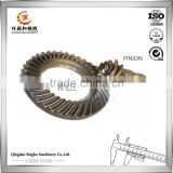 Customized CNC machining lathes stainless steel pinion shaft crown gear for tractors parts
