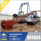Dredging excavator Bucket chain dredger with trommel gold exporter