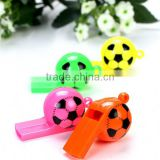 2015 Hot Sale color plastic football shape whistle/funny children toy/ Party items for kids