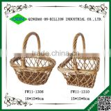 Hand knitting wicker gift basket miniature wicker baskets