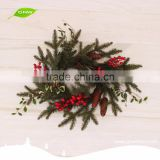 GNW CHWR-1605020 Alibaba Most Competitive red berry christmas wreath for indoor decoration