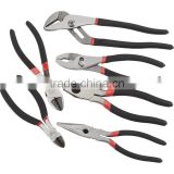 6pcs plier set combination plier and long nose plier and joint-slip plier and diagonal plier and water pump plier