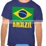 2016 new style T-shirt for the sport with Brazil flag