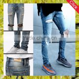 New fashion custom hostale top design ripped washed fashion brand denim men pants jeans for men wholeale alibaba
