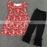 3pcs new coming lace double ruffle Flutter sleeve boutique fall outfits