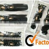 African curly weft hair extensions/hair weave hot selling
