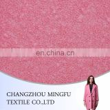 high quality yarn dyed woven wool fabric, pink woolen fabric, wool/polyester blend fabric